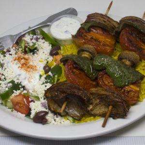 Veggie Kabob Plate | I Heart Gyro